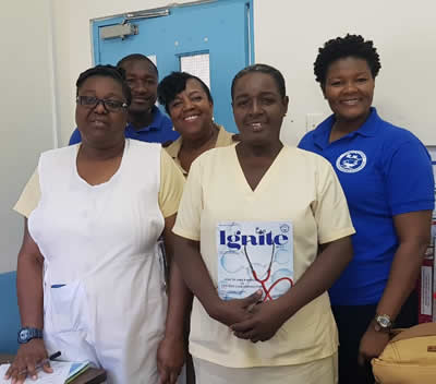 Visit to Point Fortin Hospital and Cedros Health Facility